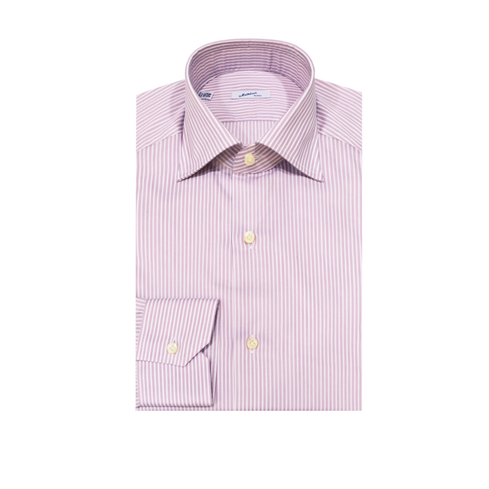 Mattabisch Cotton Shirt by Kiton (Dusty Rose Stripes)