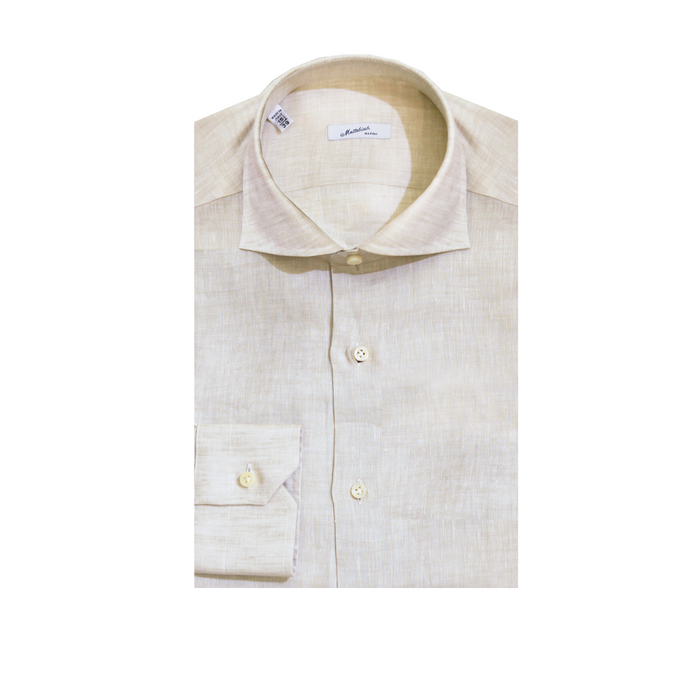 Mattabisch Linen Shirt by Kiton (light taupe)