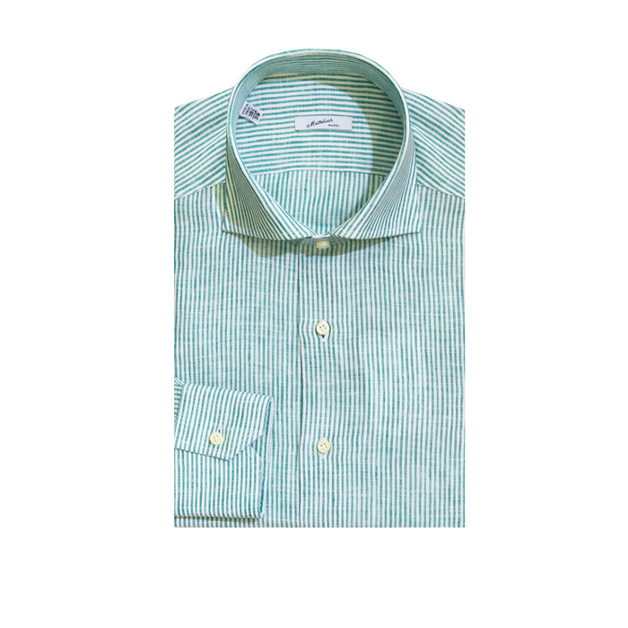Mattabisch Linen Shirt by Kiton (Green)