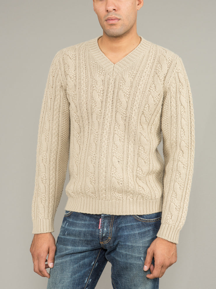 MALO CASHMERE V-NECK SWEATER