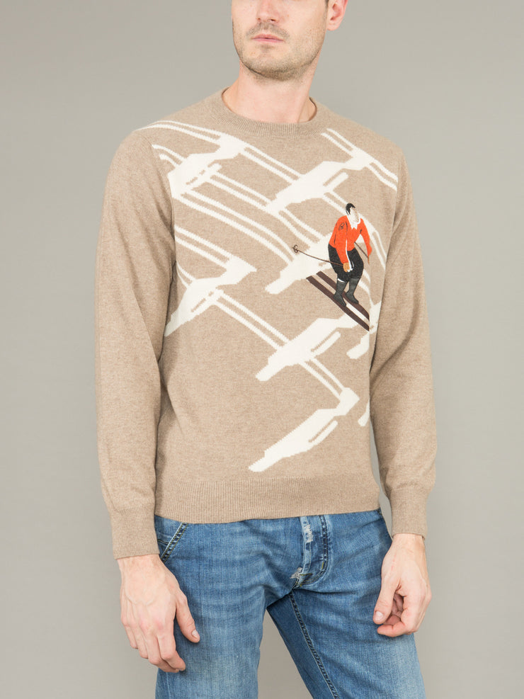 BRIONI CASHMERE CREW NECK SWEATER