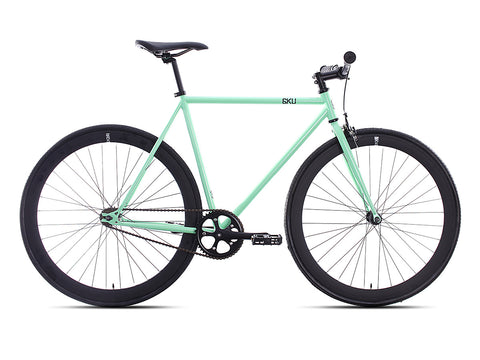 6KU Milan 2 Mint Green/Black Single Speed Bike