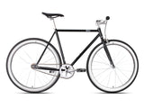 6KU The New York Black/Silver Single Speed Bike