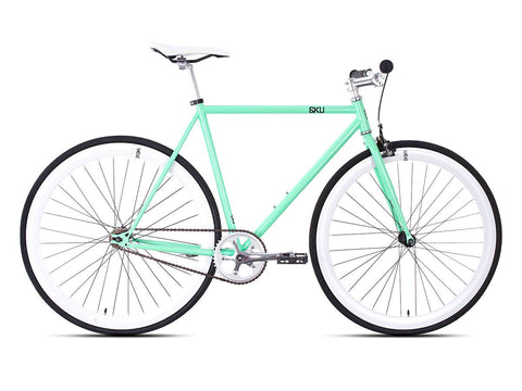 6KU Milan 1 Mint Green/White Single Speed Bike