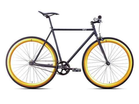 6KU Nebula 2 Matte Black/Gold Single Speed Bike