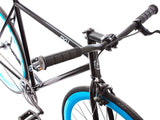 6KU Shelby Black/Blue Single Speed Bike