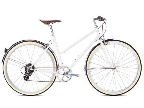6KU Odessa 8spd City Bike - Coney White