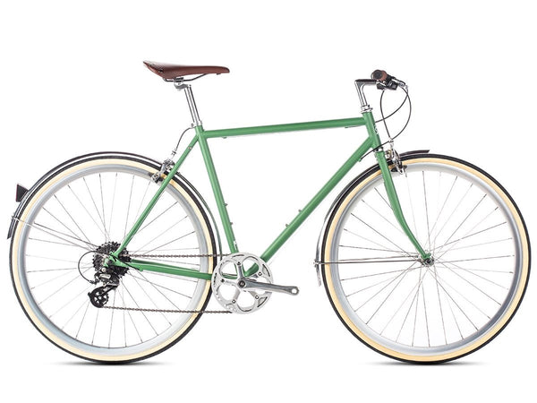 6KU Odyssey 8spd City Bike - Silverlake Green