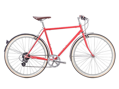6KU Odyssey 8spd City Bike - Lincoln Red