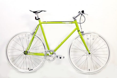 MBA Lime Green Single Speed Bike/Fixed Gear Road Bike - Size: 59cm