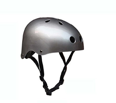 Fashion New Critical Cycles Classic Commuter Feral Bullet Protection Deluxe Bike/Scooter/Skate/Hiking/Drift Helmet, Skateboarding, Outdoors Sports, For Head (Silver)