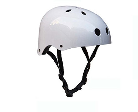 Mosk Fashion New Critical Cycles Classic Commuter Feral Bullet Protection Deluxe Bike/Scooter/Skate/Hiking/Drift Helmet, Skateboarding, Outdoors Sports, For Head (Light White,Red)