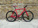 Red Black Single Speed Bike Fixie/Fixed Gear Track Bike - 59cm Frame