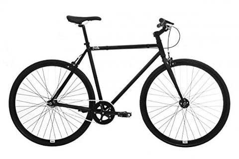 Feral Fixie, Single Speed, Fixed Gear Bike (Black, 59cm)