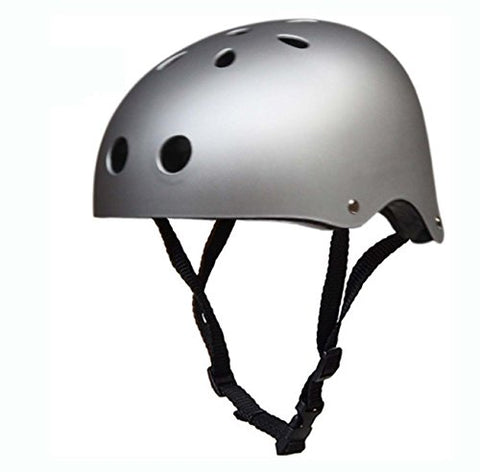 New Critical Cycles Classic Commuter Feral Bullet Protection Deluxe Bike / Scooter / Skate / Hiking / Drift Helmet, Skateboarding, Outdoors Sports, For Head (Matte Silver)