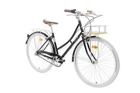Fabric City Comfort Bike with Basket- Ladies Duth Style, Shimano Internal 3 Speeds, 14kg