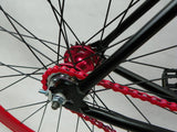 Black/Red Single Speed Fixed Gear Track Bike - 56cm Frame