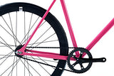 FabricBike-Fixie Bike, Fixed Gear Bike, Single Speed, Hi-Ten Steel Fuchsia Frame, 10Kg