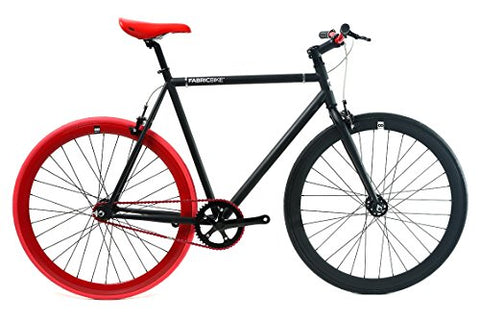 FabricBike Fixie Bike, Fixed Gear Bike, Single Speed, Hi-Ten Steel Black Frame, 10Kg