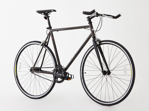 Steel Frame single speed/Fixed gear bike, 2016 Unique model, Hi spec. Brown