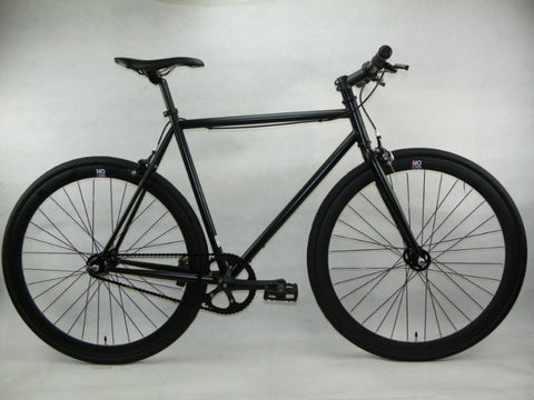 Teman All Black Single Speed Fixie Bike