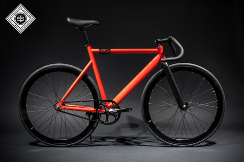 State Bicycle Co Roma Red - 6061 Black Label Fixed Gear Bike