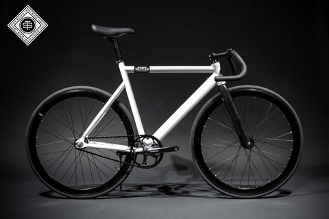 State Bicycle Co Pearl White - 6061 Black Label Fixed Gear Bike