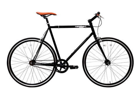 MBA Jet Black Single Speed Bike/Fixed Gear Road Bike - Size: 55cm