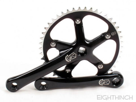 Eighthinch : 144bcd Crankset 160mm 46t 1/8 Black