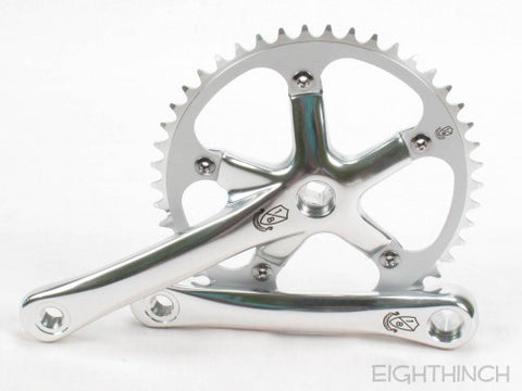 Eighthinch : 144bcd Crankset 170mm 46t 1/8 Silver