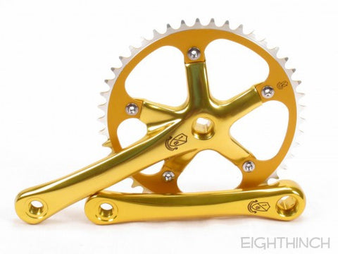 Eighthinch : 144bcd Crankset 165mm 46t 1/8 Gold