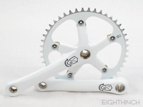 Eighthinch : 144bcd Crankset 165mm 46t 1/8 White