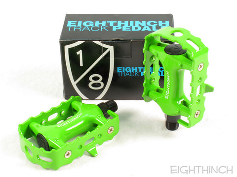 Eighthinch Classic Track Pedals 9/16 Lime Green P.C.