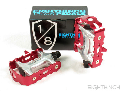 Eighthinch Classic Track Pedals 9/16 Red Anodized