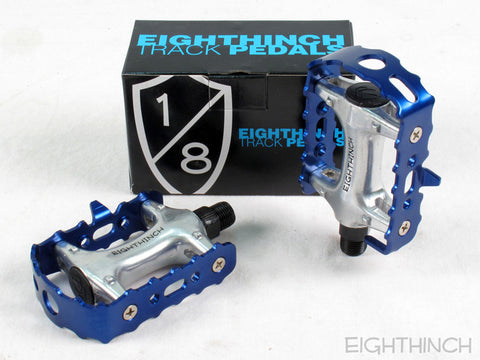 Eighthinch Classic Track Pedals 9/16 Blue Anodized