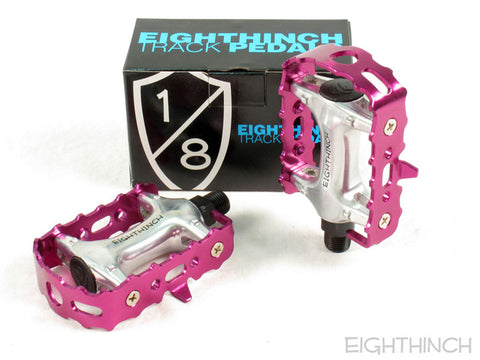 Eighthinch Classic Track Pedals 9/16 Purple Anodized