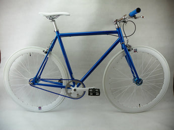 Blue/White Single Speed/Fixed Gear Bike