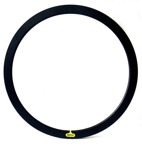 Espresso Deep V Rim Pair - Black 43mm Non Machined