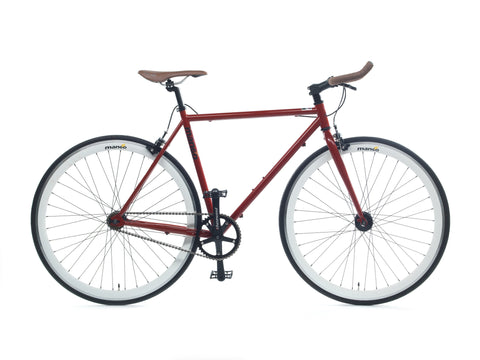 Mango Bikes Classic Deep Burgundy Single Speed Fixed Gear Bike