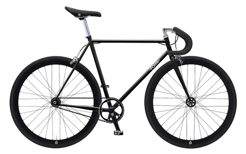 Foffa Black Fixed Gear Single Speed Bike 2012 - Frame: 59cm - Riser Bars