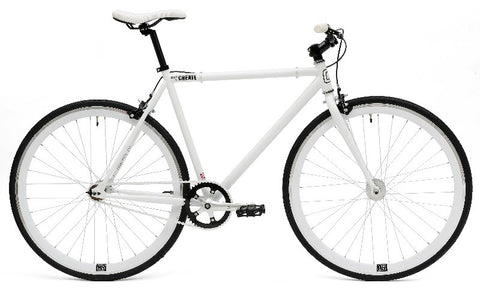 Create Bikes C8 White Fixed Gear Single Speed Fixie Bike 2013 - 59cm Frame