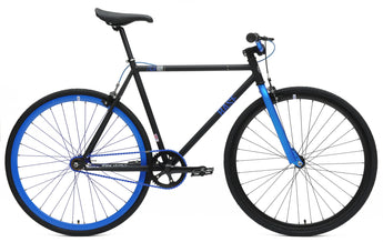 Chill Bikes 2015 Base Black Blue Rim Single Speed Fixie Bike