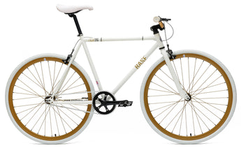 Chill Bikes 2015 Base White Bronze Rim Single Speed Fixie Bike