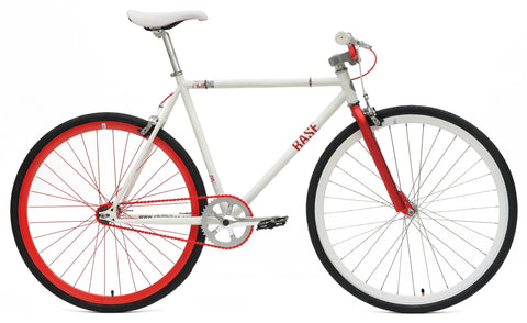 Chill Bikes 2015 Base White Red Rim Single Speed Fixie Bike