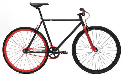 Chill Bikes 2015 Base Black Red Rim Single Speed Fixie Bike