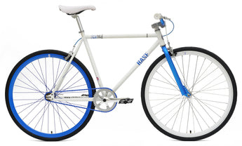 Chill Bikes 2015 Base White Blue Rim Single Speed Fixie Bike