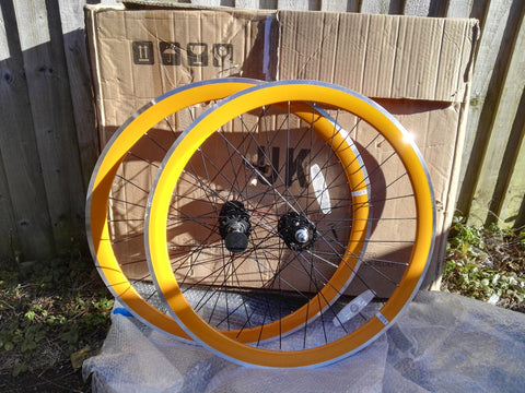 State Bicycle Co Orange Track Wheelset - CLEARANCE