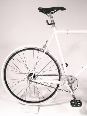 MBA Ice White/Black Single Speed Bike/Fixed Gear Road Bike - Size: 55cm