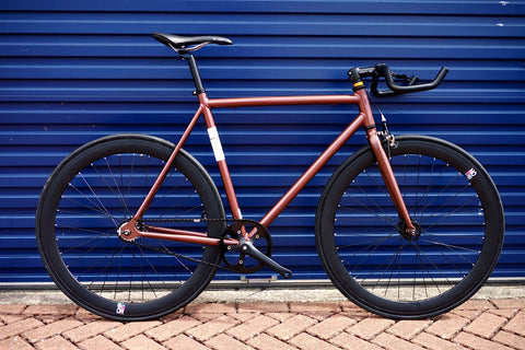 Limited Edition Copper Black Single Speed Bike Fixie/Fixed Gear Track Bike - 56cm Frame