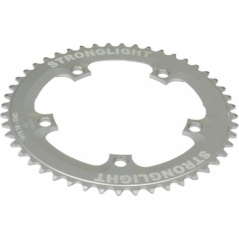 5-Arm/130mm Track Chainring: Silver 52T